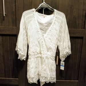Gibson Latimer Lacey Blouse Sz XL NWT